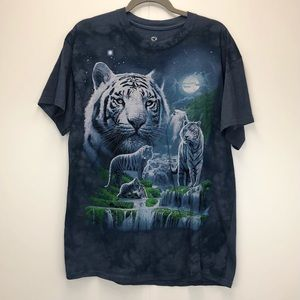 Liquid Blue Vintage White Tiger & Waterfall Tee
